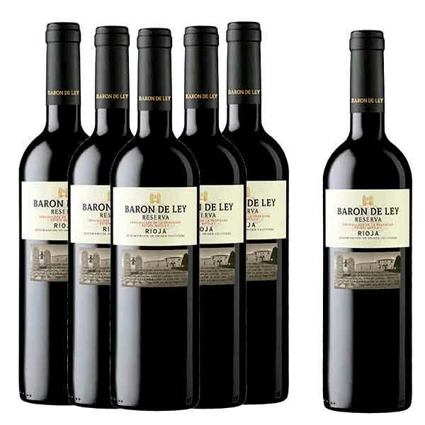 Comprar vino Rioja online Caja 6 Botellas Barón de Ley Reserva
